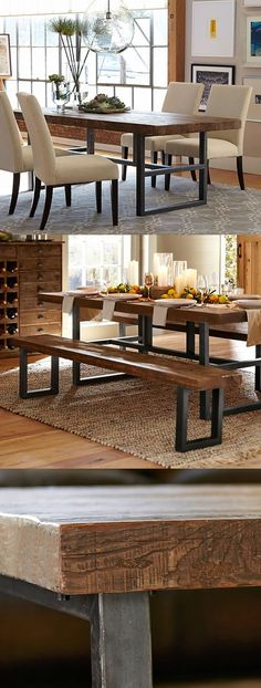 The Dining Table: Griffin Reclaimed Wood Fixed Dining Table