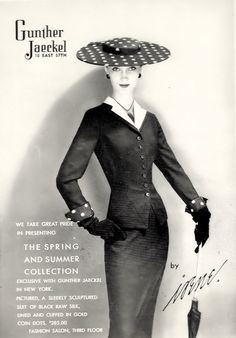 Irene Suit from www.iren-lentz.com  Town and Country 1955