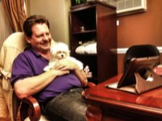 Dad surprised with puppy after family dog dies.  Cute video...