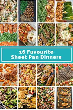 16 Favorite Sheet Pan Dinners - The easiest and most delicious meals all made on one sheet pan! Great for busy families and moms. Great way to put a healthy meal on the table quickly!
