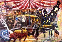 Big Circus, trabalho do artista Oscar Oiwa tem crise econômica global como inspiração (Foto: Divulgação)