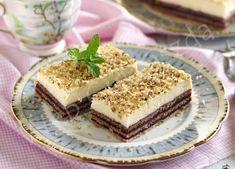 Krémes linzerszelet Tiramisu, Deserts, Snacks, Cookies, Ethnic Recipes, Food, Flower Aesthetic, Crack Crackers, Appetizers
