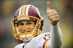 With Robert Griffin III leading the franchise, quarterback Kirk Cousins could be traded elsewhere to prepare the Redskins for the future. Photo by Wesley Hitt/Getty Images Nfl Football, Football Players, Football Helmets, Washington Redskins, Robert Griffin Iii, Kirk Cousins, Monday Night Football, Nfc East, Sports Update