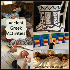 Ancient Greek Activities, art columns, Lego Parthenon, and a Homer rap - Layered Soul Homeschool