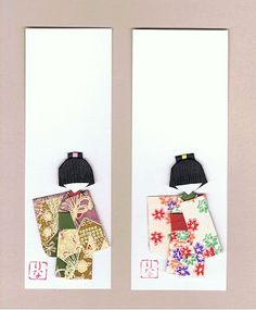 Washi Ningyo-Japanese paper doll with long sleeve kimono (There are more paper dolls on site.)
