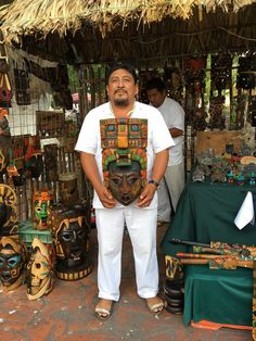 I bought this mask in Valladolid Mexico