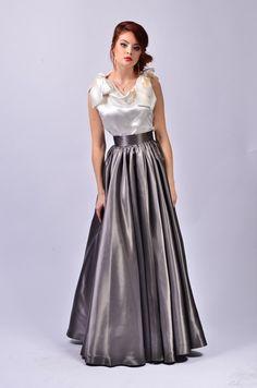 Items similar to Denisa Skirt on Etsy Satin Gown, Satin Skirt, Satin Dresses, Silk Satin, Lovely Dresses, Beautiful Gowns, Blouse Dress, Dress Skirt, Silky Dress