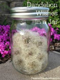 Having a bad day? Pull out this jar of dandelion wishes, take out a dandelion puff, make a wish, and blow!