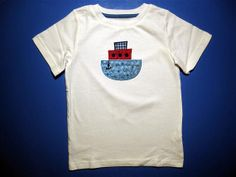 Embroidery and Appliqued Boys  Tug boat Baby one by kelley735, $12.50