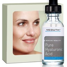 Hyaluronic Acid Serum for Face - 100% Pure Medical Quality Clinical Strength Formula!. Holds 1,000 Times Its Own Weight in Water - Plumps and Hydrates - All Natural Moisturizer Serum -- You can get additional details at the image link.
