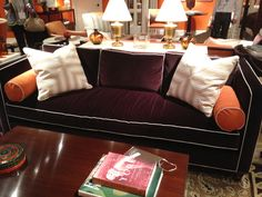 Contrast welt-- Alexa Hampton for Hickory Chair