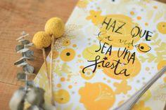 Edición especial: lámina + cuchara grabada Haz que la vida sea una fiesta, by Lucía Be