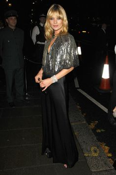 Black Magic: Kate Moss at Topshop's holiday launch in her own collection for the store in 2007.