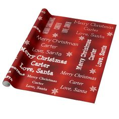 Personalized Santa Christmas Wrapping Paper Wrapping Paper Design, Gift Wrapping Paper, Custom Wrapping Paper, Wrapping Ideas, Wrapping Presents, Merry Christmas Love, Christmas Gifts For Kids, Santa Christmas, Christmas Ideas