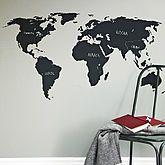 Chalkboard World Map Wall Sticker