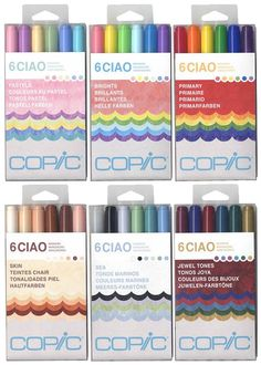 Copic Ciao Sets, Hobby Lobby carries them. Copic Marker Art, Copic Art, Copic Markers, School Supplies, Art Supplies, Craft Materials, Copics, Modern Calligraphy, Gel Pens