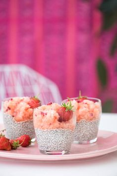 chia pudding dessert | designlovefest