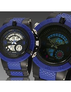 Männer schwarz Runde Zifferblatt Silikonband Japan-Bewegung Mode Tauchen Sportuhr Armbanduhr (farbig sortiert) - http://uhr.haus/weiq/maenner-schwarz-runde-zifferblatt-silikonband-18
