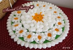 ひな菊の円座 (Crochet Seat Cushion - Daisy)