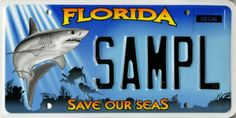 Save~Our~Seas (The tag I have) Buy this plate & help fund critical marine research, education and conservation efforts conducted by Harbor Branch.