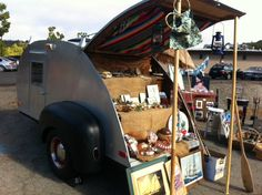 seascape garden and maritime teardrop flea market booth