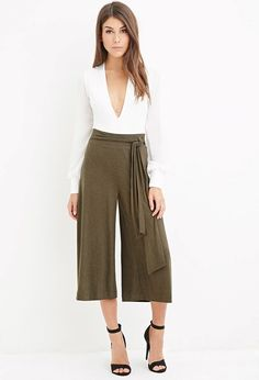 FOREVER 21 Contemporary Heathered Culottes