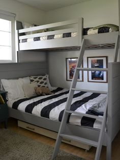 DIY Bunk Bed Tutorial inspired by the Land of Nod Uptown Twin-over-Full Bunk Bed