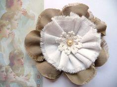 Shabby Blume Vintage Flower Blüte Nostalgie Spitze Perle Landhaus Handarbeit