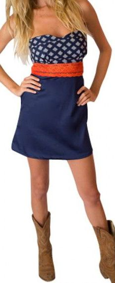 Game Day Sweetheart Dress - cute for back to school, available in many school colors