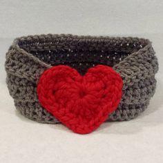 Crochet Headband For Girl, Crochet Headband with Heart, Headband for Baby, Crochet Turban, Crochet Ear warmer, Valentines Day headband by AnniesHookNook on Etsy