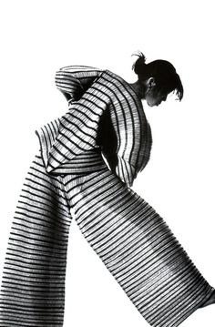Stripes (Issey Miyake, American Vogue, March 1989)