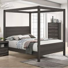 King Size Canopy Bed, Queen Canopy Bed, Metal Canopy Bed, Canopy Bed Frame, Canopy Beds, Room Ideas Bedroom, Small Room Bedroom, Master Bedroom, Bedroom Inspo