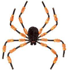 5ft Halloween 50 LED Lights 3 Function Hanging Spider - Orange and Black   #Spider #HangingSpider #5ftHalloweenSpider #5ft #HalloweenSpider #Halloween #50LEDLights #OrangeandBlack #3FunctionHangingSpider #50LED #Lights #Hanging