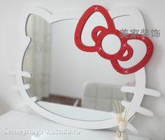 Детский ТУАЛЕТНЫЙ СТОЛИК Hello Kitty — 3 СПОСОБА сделать своими ...