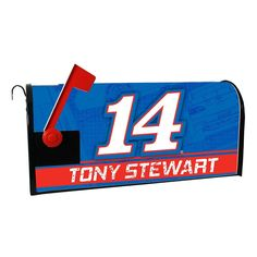 Tony Stewart Magnetic Mailbox Cover, Multicolor