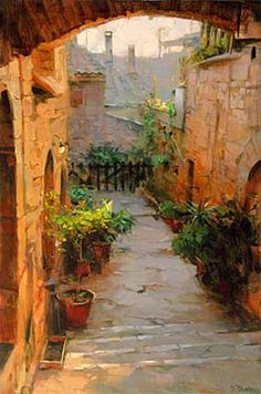 """Assisi Courtyard"" by Dmitri Danish"