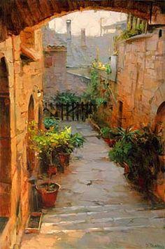 """Assisi Courtyard"" by Dmitri  Danish"