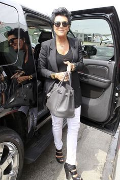 Kris Jenner. Love her style
