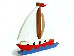 Puzzle Sailboat.  kids puzzle children's game by berkshirebowls