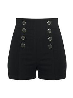 "Women's ""High Waist"" Pin Me Up Shorts by Double Trouble Apparel (Black) #inkedshop #vixen #cute #dress #fashion #adorable #top #skirt #sexy #retro"