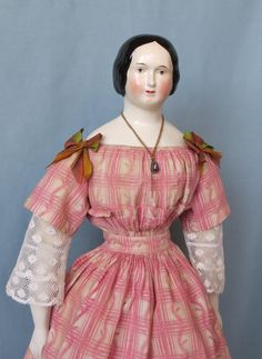 Antique China Lady with Braided Bun from abigailsattic on Ruby Lane