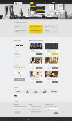 Web Design: Luxury Real Estate PSD Theme by Coralix , via Behance