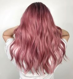 ideas dusty pink hair rose for 2020 Dusty Pink Hair, Rose Pink Hair, Hair Color Pink, Purple Hair, Dusty Rose Hair Color, Cool Hair Colours, Brown And Pink Hair, Ash Color, Hair Color Balayage