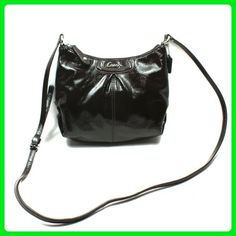 Coach Ashley Patent Leather Swingback - Brown 48252 - Crossbody bags (*Amazon Partner-Link)
