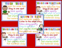 Daily 5 Starter Set....kid friendly directions.
