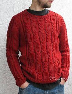 Красный мужской джемпер
