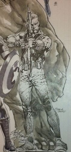 Hawkeye by David Finch Comic Art