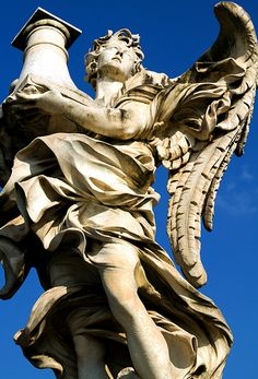 angel at ponte sant'angelo, rome, italy