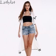 Lztlylzt Time-limited Limited Pockets Kimono Chiffon Sunscreen Long Cardigan Blusas 2016 Summer Tops Sleeve Women Blouses Shirt