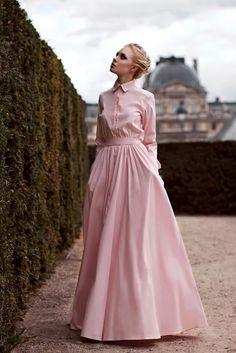 Платье-рубашка макси by Yulia Prokhorova